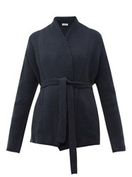 Brunello Cucinelli Belted Cashmere Cardigan Dark Blue