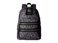 Marc Jacobs Garden Paisley Printed Biker Backpack Purple Multi Backpack Bags
