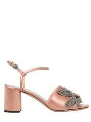 Rochas 60Mm Jeweled Satin Sandals