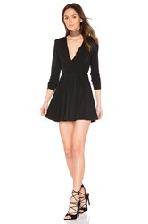 Bcbgeneration Surplice Dress Black