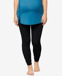A Pea In The Pod French Terry Maternity Leggings Core Black