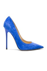 Jimmy Choo Suede Anouk Pumps In Blue