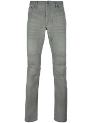 John Varvatos Motocross Slim Fit Jeans Grey