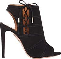 Aquazzura Oui Baby Ankle Booties Black