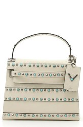 Valentino 'My Rockstud Alce' Embellished Leather Satchel