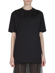 Givenchy Crystal Embellished Cotton Tee Black