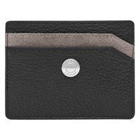 Reiss Colmar Suede Panel Card Holder Black Taupe