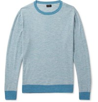 J.Crew Striped Knitted Sweater Blue