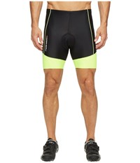 Louis Garneau Men Comp Shorts Black Bright Yellow Men's Shorts