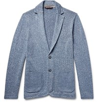 Michael Kors Linen And Cotton Blend Cardigan Light Blue