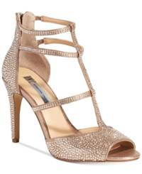 Inc International Concepts Raechie Embellished Evening Sandals Only At Macy's Women's Shoes Soft Bronze