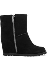 Marc By Marc Jacobs Harper Suede Wedge Snow Boots Black