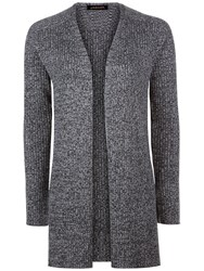 Jaeger Split Hem Edge To Edge Cardigan Grey