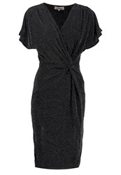 Louche Shaela Jersey Dress Black Silver