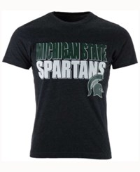 Colosseum Men's Michigan State Spartans Wordmark Stack T Shirt Black