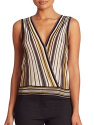 Diane Von Furstenberg Velda Sleeveless Top Gold Multi