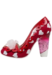 Irregular Choice Hearts On The Line Classic Heels Red