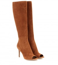 Gianvito Rossi Mytheresa.Com Exclusive Open Toe Suede Boots Brown