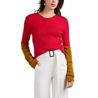 Cedric Charlier Colorblocked Cotton Sweater Pink