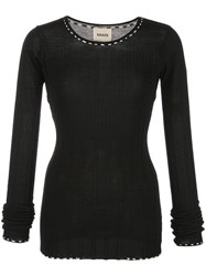 Khaite Ribbed Fitted Sweater Black