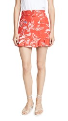 Tanya Taylor Lizette Skirt Toile Red