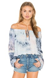 Eight Sixty Crystal Tie Dye Top Blue