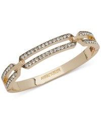 Anne Klein Gold Tone Crystal Bangle Bracelet Created For Macy's