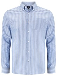 John Lewis Striped Oxford Long Sleeve Shirt Blue White