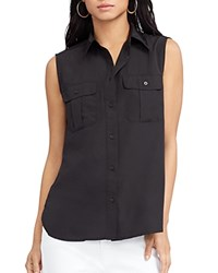 Ralph Lauren Sleeveless Button Down Shirt Black