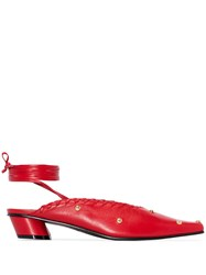 Reike Nen Sue 30Mm Ankle Tie Mules Red