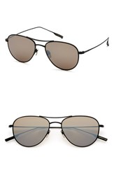 Men's Salt 'Meadows' 54Mm Polarized Aviator Sunglasses Black Sand