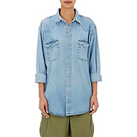 Icons Women's Snap Front Denim Shirt Blue