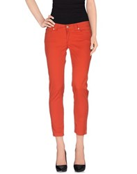 Pianurastudio Trousers Casual Trousers Women Orange