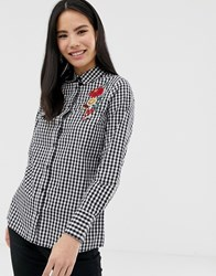 Influence Gingham Shirt With Embroidery Multi