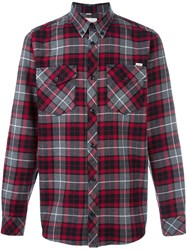 Carhartt Plaid Button Down Shirt Grey