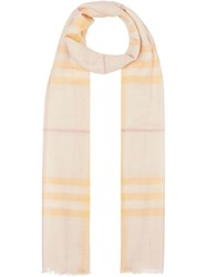 Burberry Lightweight Check Scarf Pink