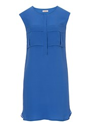 Vera Mont Sleeveless Silk Dress Blue