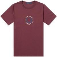 Fred Perry Embroidered Logo Tee Burgundy
