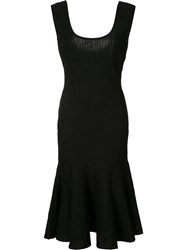 Carolina Herrera Sleeveless Knit Dress Women Silk Lurex Wool L Black