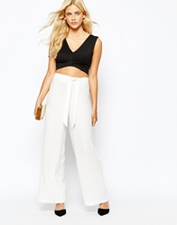 Oasis Wide Leg Trousers White