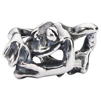 Trollbeads Sterling Silver Climbing Frog Bead Silver