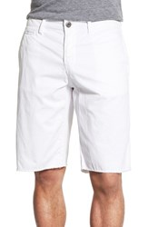 Men's Original Paperbacks 'St. Barts' Raw Edge Shorts White