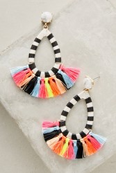 Anthropologie Summer Tassel Drop Earrings Yellow Motif