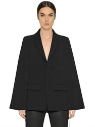Diesel Black Gold Cool Wool Cape Jacket