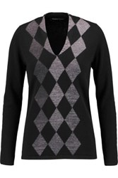 Pringle Of Scotland Argyle Cashmere Sweater Dark Gray