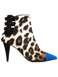 Giuseppe Zanotti Design Leopard Booties Nude And Neutrals