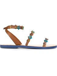 Car Shoe 'Voyage Edera' Sandals Brown