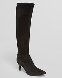 Delman Pointed Toe Boots Lilia Black
