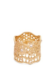 Aurelie Bidermann Fine Jewellery Diamond Aquamarine And Yellow Gold Ring
