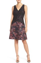 Adrianna Papell Women's Floral Lace Fit And Flare Dress